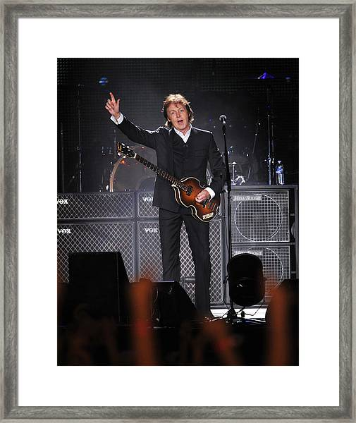 Paul Mccartney Brings The House Down At Framed Print