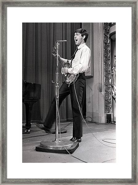 Paul Mccartney Of The Beatles Pop Framed Print