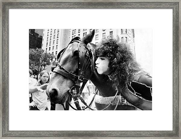 Paul Stanley Makes Friends With One Of Framed Print