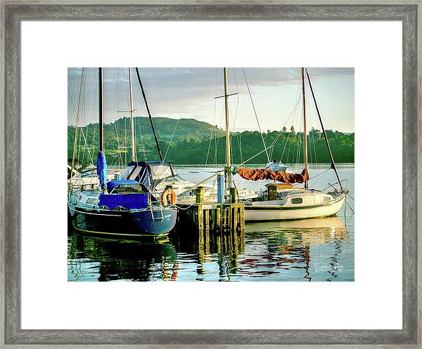 Peace In Lake Windermere Framed Print