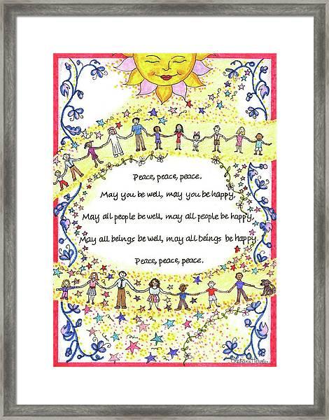 Peace, Peace, Peace Framed Print