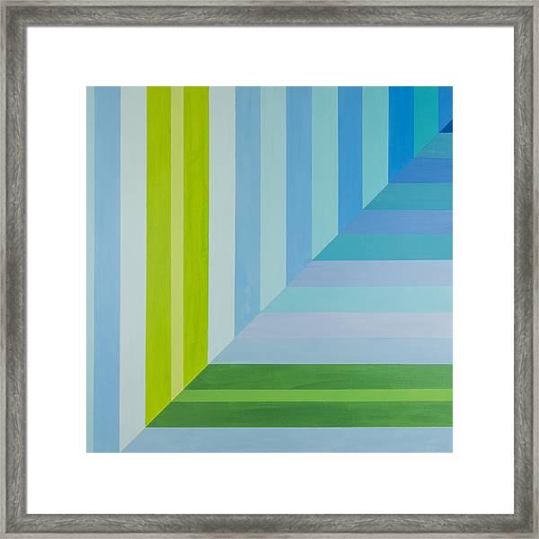 Peaceful Geometric Shade Framed Print