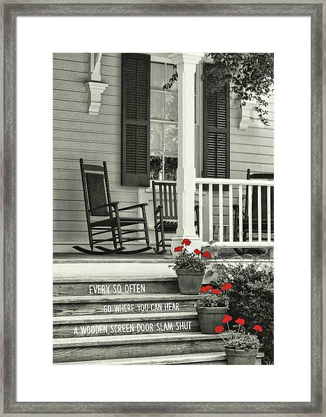 Peaceful Quote Framed Print