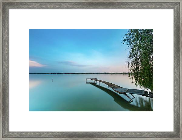 Peacefull Waters Framed Print