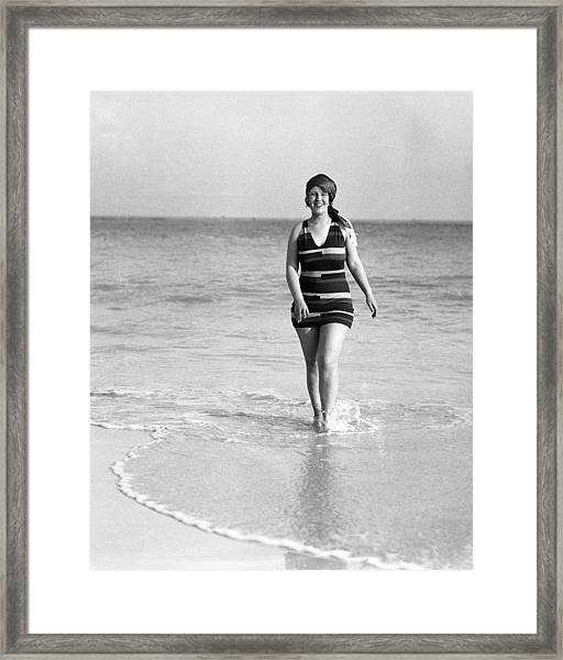 Peaches Browning At Elbow Beach In Framed Print