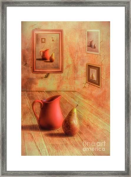 Pear And Jug Framed Print