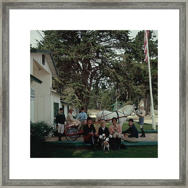 Pebble Beach Stables Framed Print by Slim Aarons