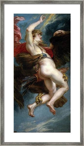 Pedro Pablo Rubens / 'the Rape Of Ganymede', 1636-1637, Flemish School, Oil On Canvas. Framed Print