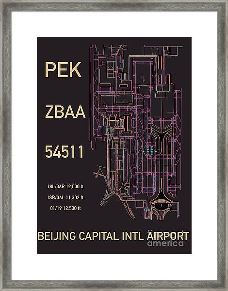 Pek Beijing Capital Airport Framed Print