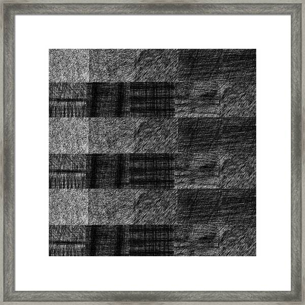 Pencil Scribble Texture 1 Framed Print