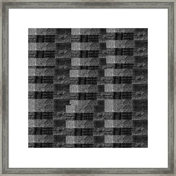 Pencil Scribble Texture 2 Framed Print
