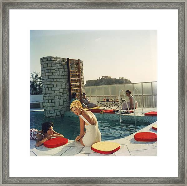 Penthouse Pool Framed Print by Slim Aarons