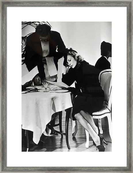 People. Lodon, England. 1939. A Lady Framed Print