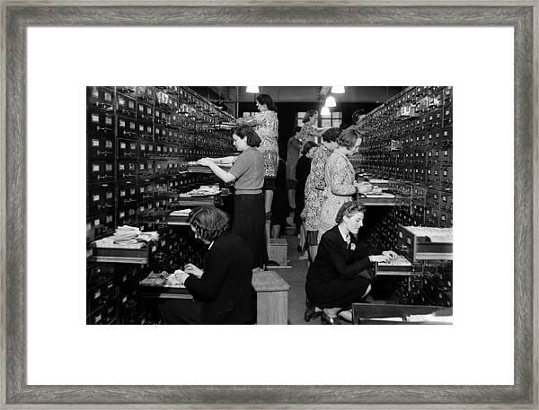People, World War II, Pic 4th February Framed Print