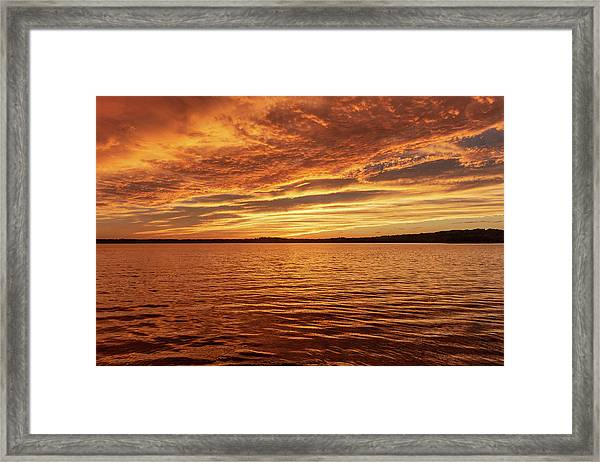 Framed Print featuring the photograph Percy Priest Lake Sunset by D K Wall