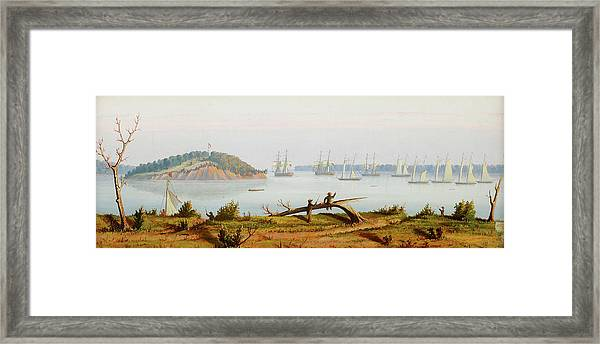 Perrys Fleet In Put-in-bay On The Framed Print