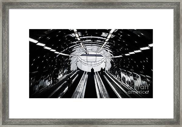 Perspective Light Composition In Warsaw Framed Print