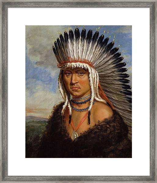 Petelesharro, Generous Chief, 1822 Framed Print
