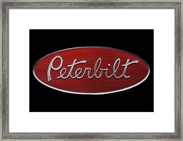 Peterbilt Emblem Black Framed Print