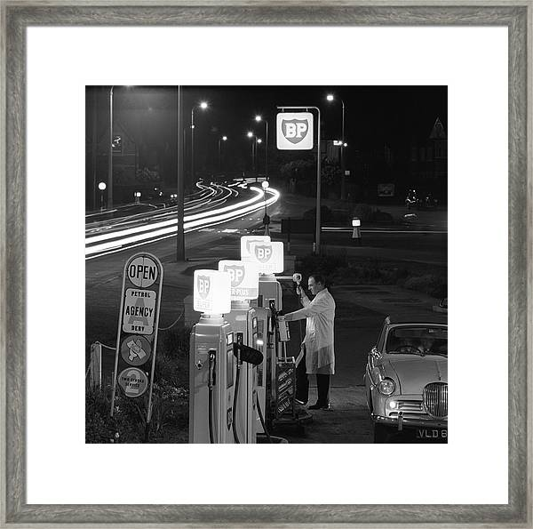 Petrol Station Framed Print