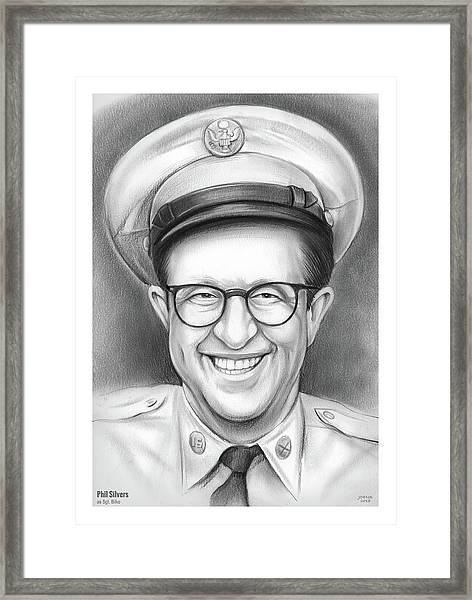 Phil Silvers As Sgt Bilko Framed Print