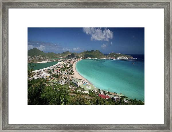 Philipsburg From Above I Framed Print