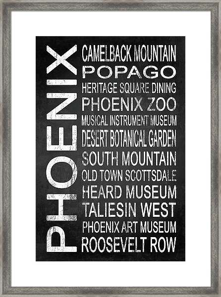 Phoenix Az 4 Framed Print