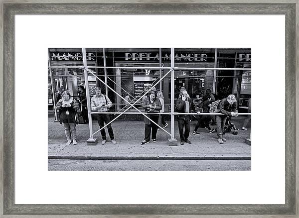 Phone Alone Framed Print