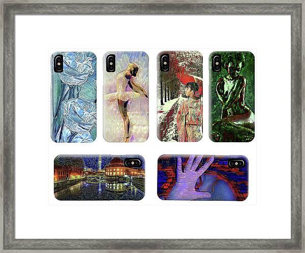 Phone Cases Samples Framed Print