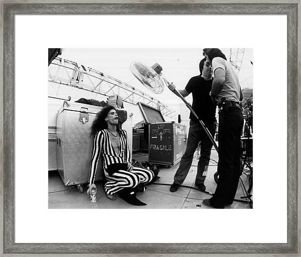 Photo Of Aerosmith And Steven Tyler Framed Print