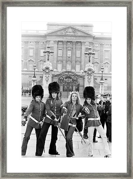 Photo Of Alex Van Halen And David Lee Framed Print