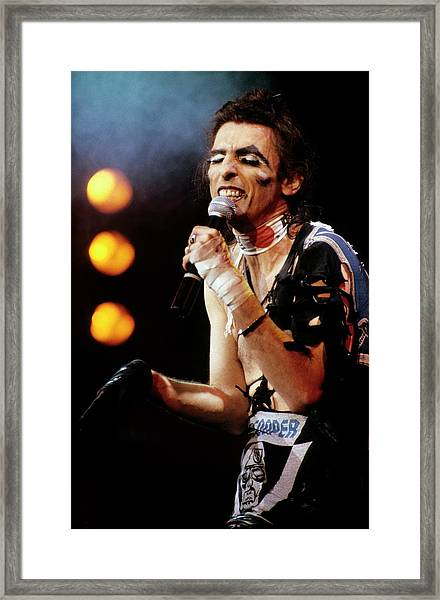 Photo Of Alice Cooper Framed Print