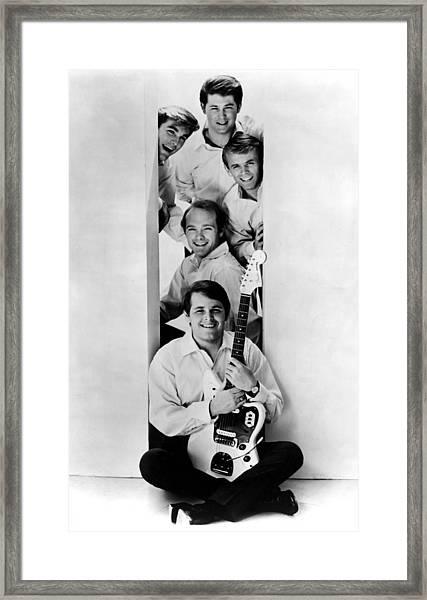 Photo Of Beach Boys And Al Jardine And Framed Print by Ca