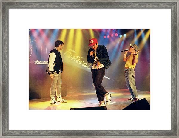 Photo Of Beastie Boys Framed Print by David Redfern