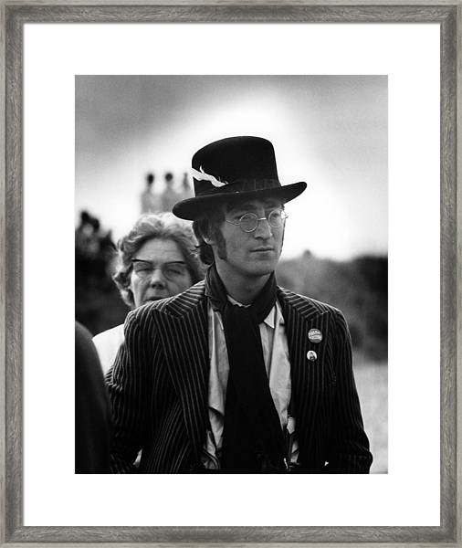 Photo Of Beatles And John Lennon And Framed Print by David Redfern