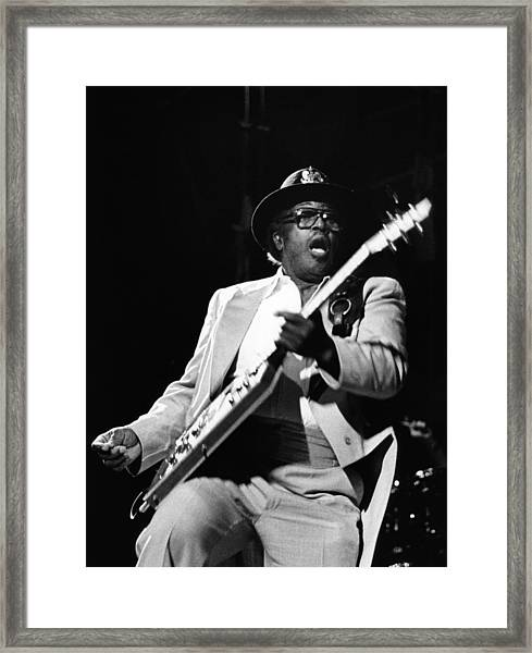 Photo Of Bo Diddley Framed Print by Fin Costello