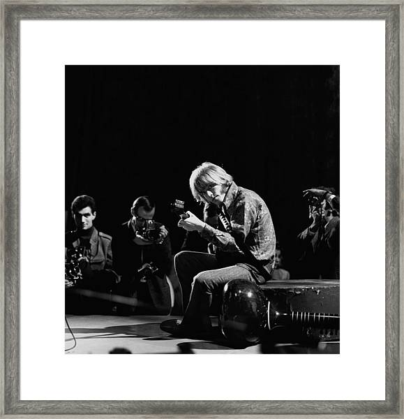 Photo Of Brian Jones And Rolling Stones Framed Print by David Redfern