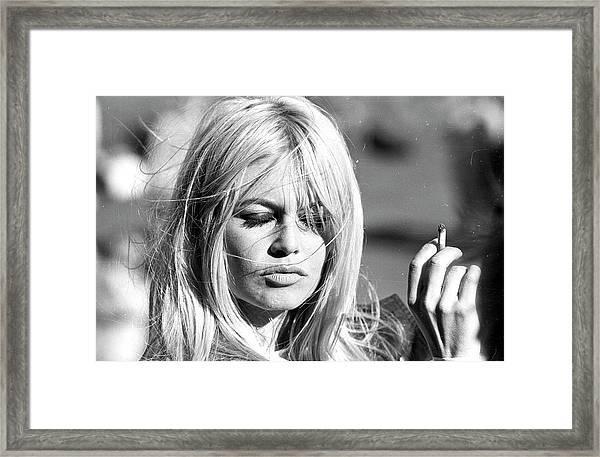Photo Of Brigitte Bardot Framed Print