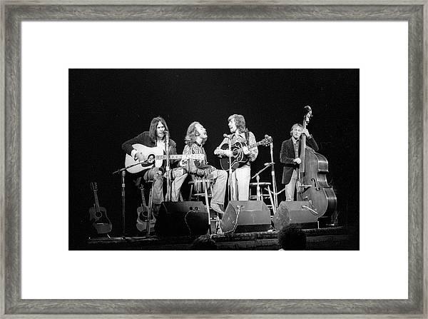 Photo Of Crosby, Stills, Nash & Young Framed Print
