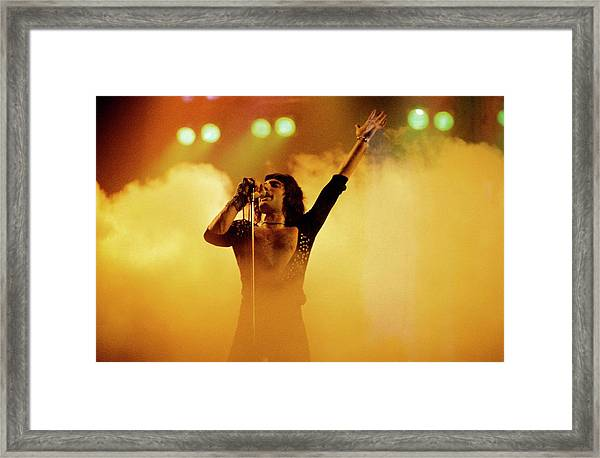 Photo Of Freddie Mercury And Queen Framed Print