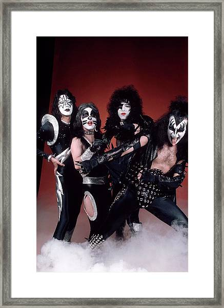 Photo Of Gene Simmons And Paul Stanley Framed Print