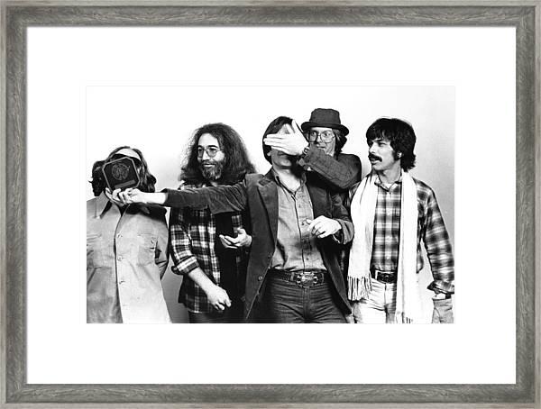 Photo Of Grateful Dead Framed Print by Richard Mccaffrey