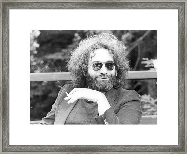 Photo Of Jerry Garcia Framed Print