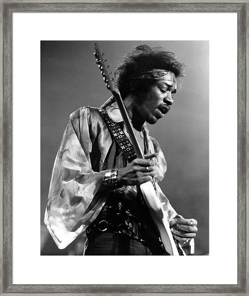 Photo Of Jimi Hendrix And Jimi Hendrix Framed Print