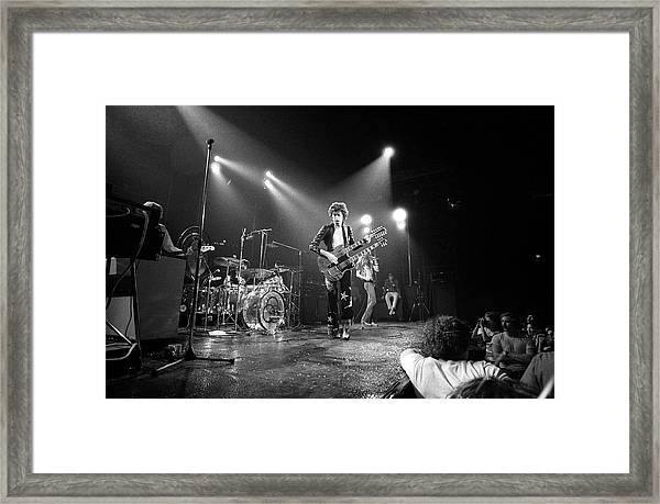 Photo Of Led Zeppelin And Robert Plant Framed Print