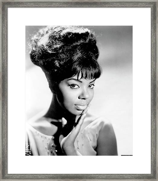Photo Of Mary Wells Framed Print
