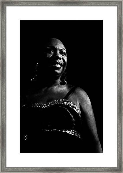 Photo Of Nina Simone Framed Print by Paul Bergen