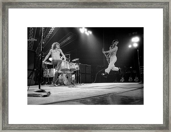 Photo Of Pete Townshend And Roger Framed Print