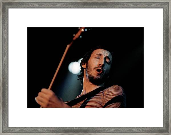 Photo Of Pete Townshend And Who Framed Print