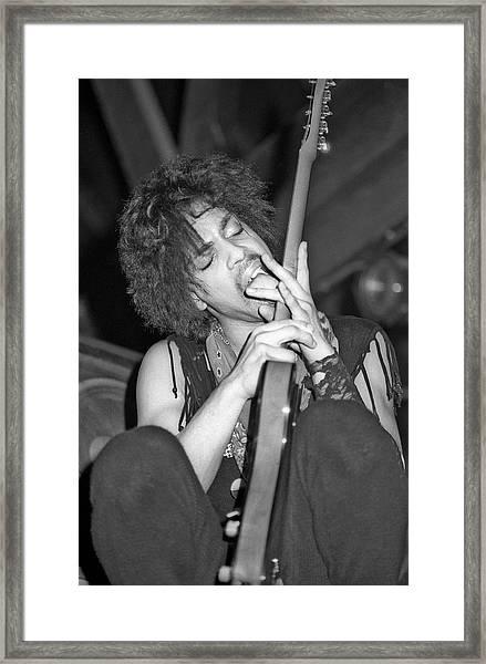 Photo Of Prince Framed Print